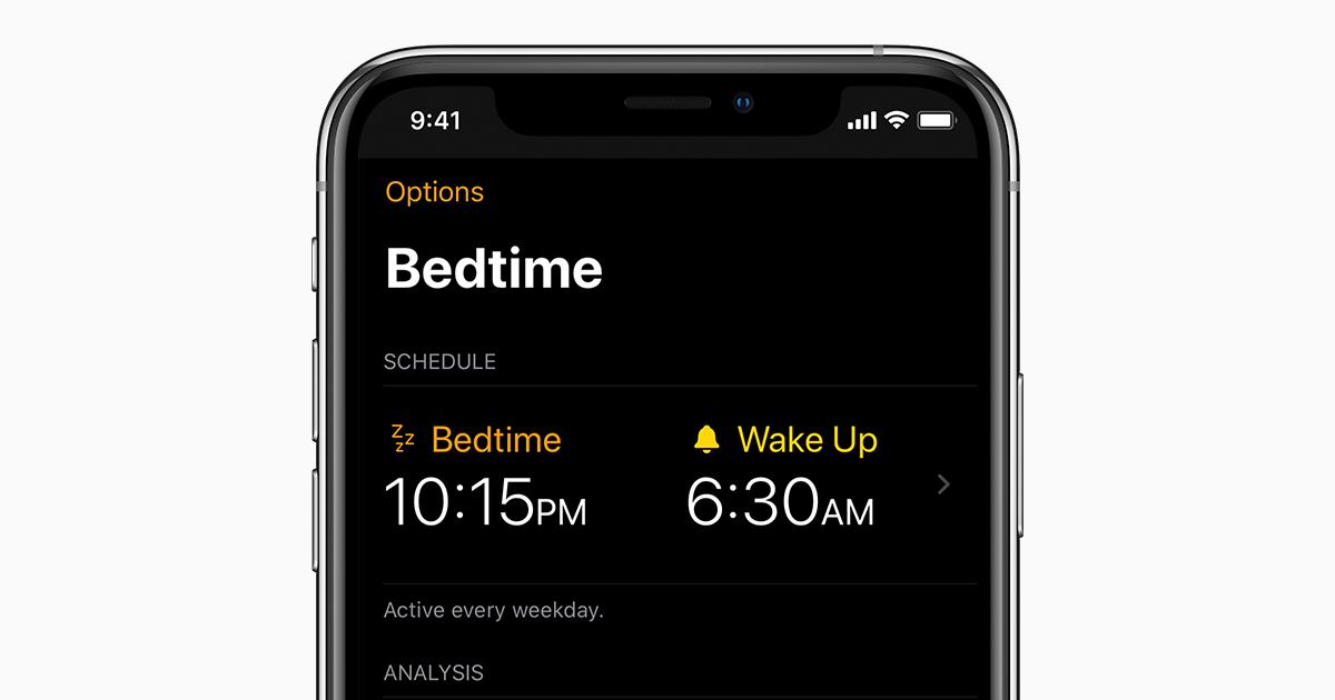 افزایش کیفیت خواب با قابلیت Bedtime