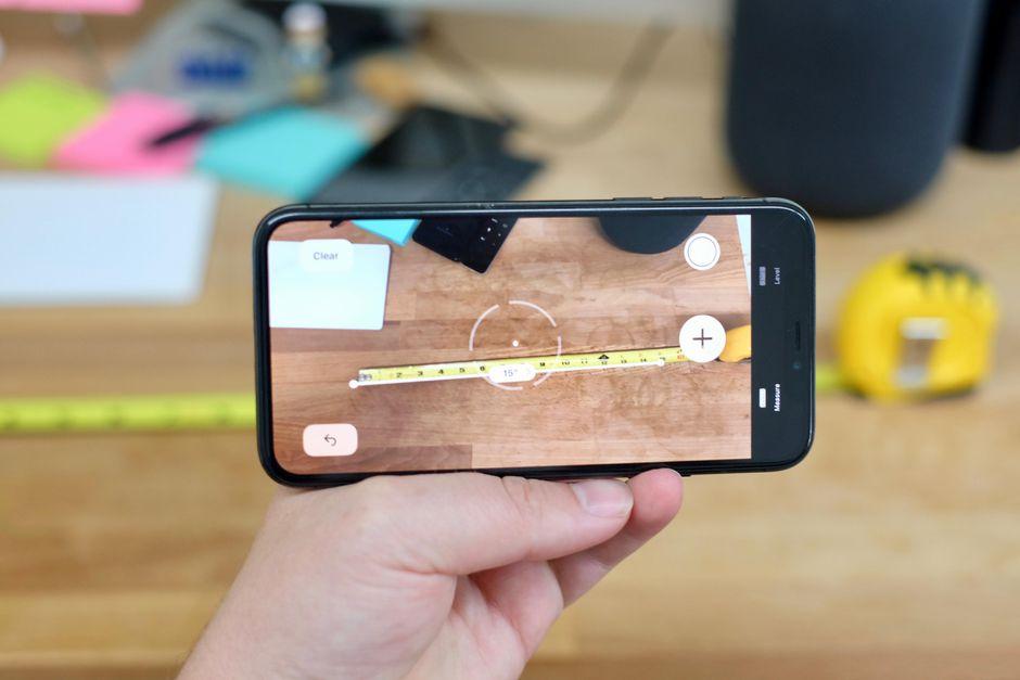 اندازه گیری اجسام با نرم افزار Measure در iOS12