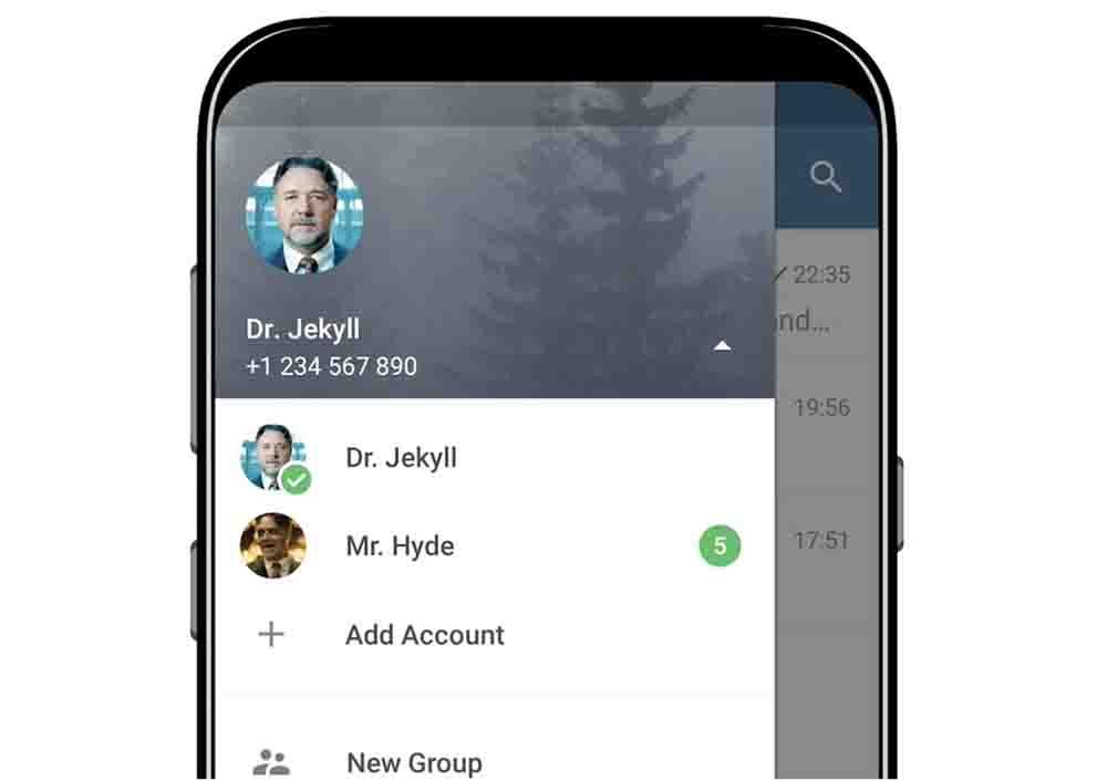 استفاده از چند اکانت تلگرام در نسخه رسمی